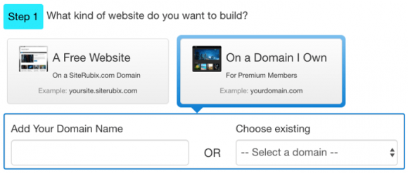 Wealthy Affiliate Site Builder - Step 1
