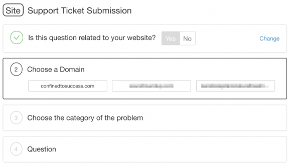 Wealthy Affiliate Support Ticket Submission - Step 2
