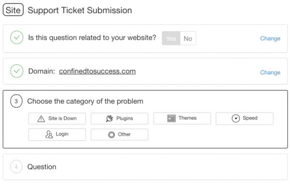 Wealthy Affiliate Support Ticket Submission - Step 3