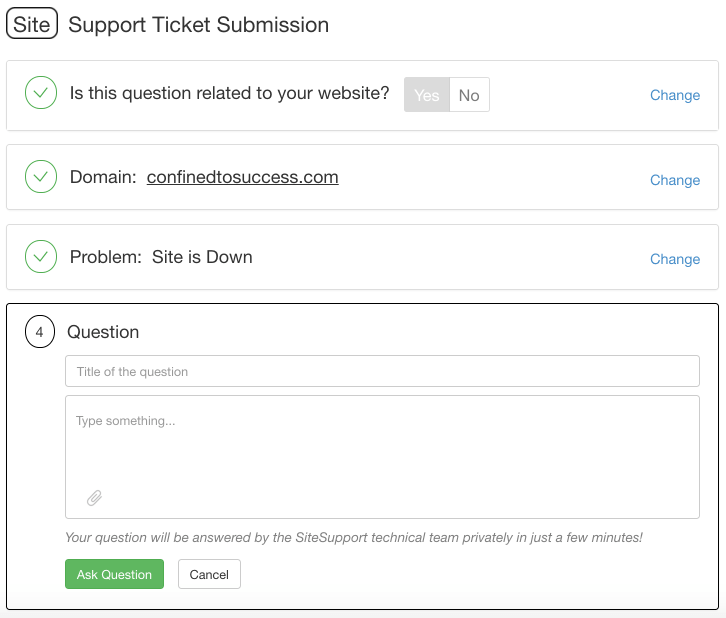 Wealthy Affiliate Support Ticket Submission - Step 4