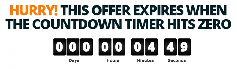 Deceptive Internet Marketing Countdown Timer