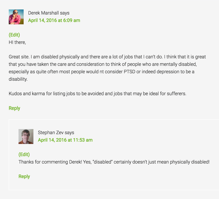 Wealthy Affiliate Site Comments - Example 3