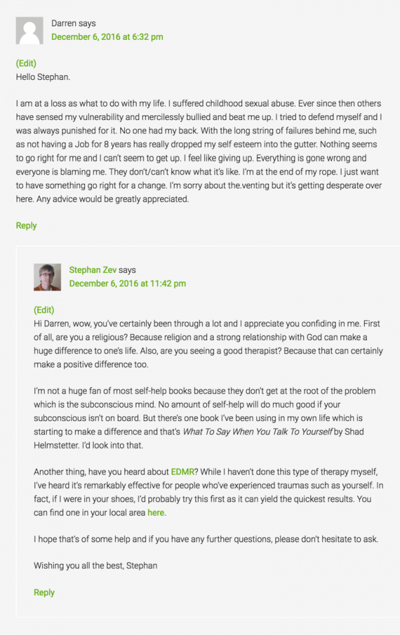 Authentic Blog Comment - Example 3