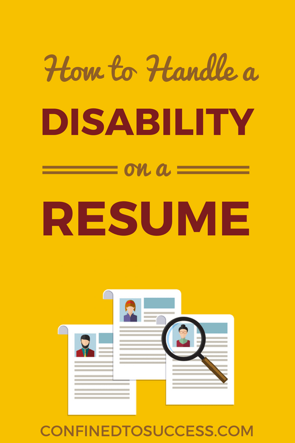 How To Handle A Disability On A Resume