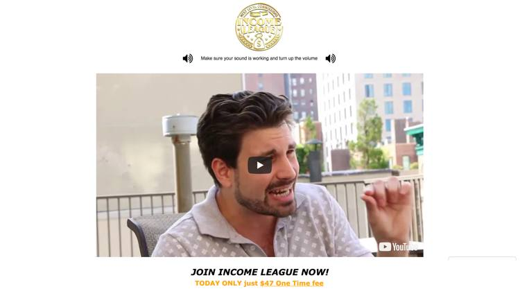 Income League Review - Homepage