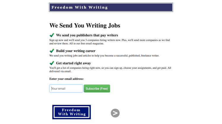 Is Freedom With Writing A Scam? - Homepage