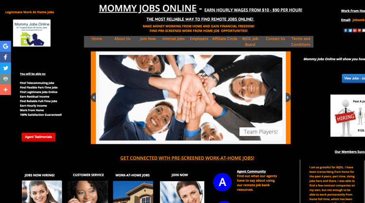 Mommy Jobs Online - Homepage