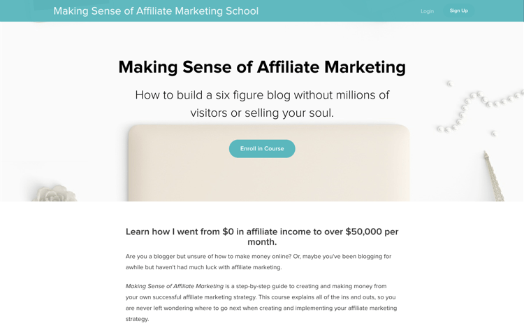 Making Sense Of Affiliate Marketing School Review - Homepage